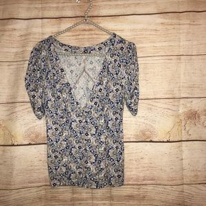 🎃Free people size small floral blouse